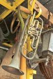 gammal trumpet Arkivbilder