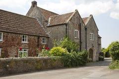 Gammal Tudor Somerset byggnad Royaltyfri Bild