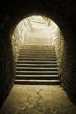 gammal tunnel för tegelsten Royaltyfria Bilder