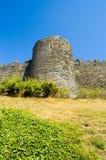 gammal turretvägg för slott fotografering för bildbyråer