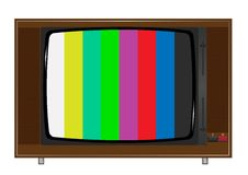 Gammal TV stock illustrationer