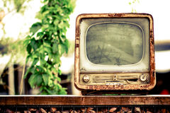 gammal tv Arkivbild