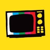 gammal tv för illustration arkivbilder