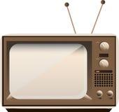 Gammal TV för vektor Arkivbild