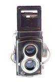 Gammal tvilling- linsreflex Arkivbild
