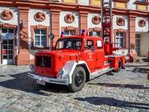 Gammal tysk brandkår bil- Magirus Deutz Arkivbild