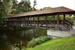 Gammal tysk bro Arkivfoto