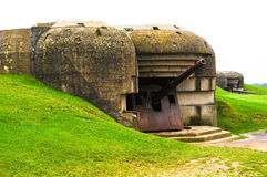 Gammal tysk bunker i Normandy, Frankrike Fotografering för Bildbyråer