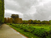 Gammal tysk bunker i Wien Arkivfoton
