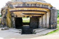 Gammal tysk bunker, Normandie, Frankrike Arkivbild
