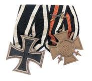 gammal tysk medalj fotografering för bildbyråer