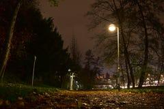 Gammal tysk stad på natten royaltyfri fotografi