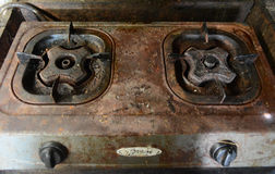 gammal ugn för gas Arkivfoto