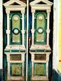 Gammal ukrainsk tappning målad dörr Royaltyfri Foto