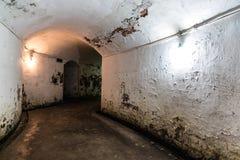 Gammal underjordisk tunnel Royaltyfri Foto