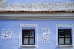 Gammal ungersk husdetalj arkivfoton