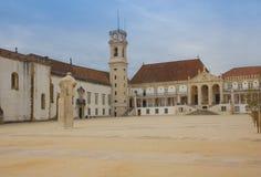 Gammal universitetar av Coimbra, Portugal Arkivbild