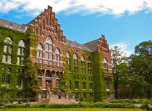 Gammal universitetbyggnad i Lund Arkivfoton