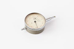 Gammal USSR-mikrometer Arkivfoton