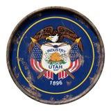 Gammal Utah flagga Arkivfoto
