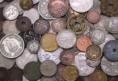 Gammal utländsk myntsamling Fotografering för Bildbyråer