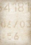 Gammal utskrivaven pappers- textur Arkivfoto