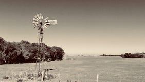 Gammal väderkvarn Woodside, Victoria, Australien Fotografering för Bildbyråer