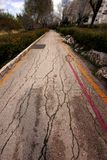 gammal väg Fotografering för Bildbyråer