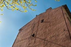 Gammal vägg av industribyggnaden Royaltyfria Bilder