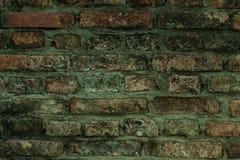 Gammal vägg av röda briks, bakgrund royaltyfria bilder