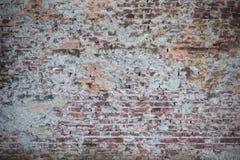 Gammal vägg av röda tegelstenar Tapet av vanlig byggnadsväggtextur Royaltyfri Fotografi