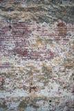 Gammal vägg av röda tegelstenar Tapet av vanlig byggnadsväggtextur Royaltyfria Bilder