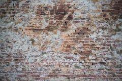 Gammal vägg av röda tegelstenar Tapet av vanlig byggnadsväggtextur Arkivbilder