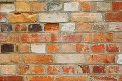gammal vägg för 02 tegelsten Arkivbild