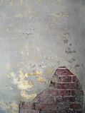 gammal vägg för 6 tegelsten royaltyfri foto