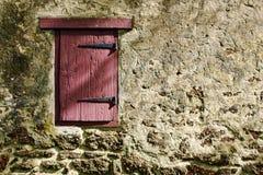 gammal vägg för antik dörr Arkivbild