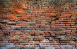 gammal vägg för bakgrundstegelsten Royaltyfri Fotografi