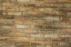 gammal vägg för bakgrundstegelsten arkivfoto