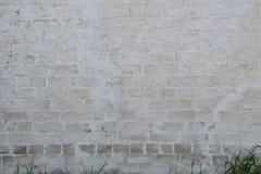 gammal vägg för bakgrundstegelsten Arkivbild