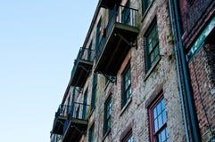 gammal vägg för balkonger royaltyfri foto