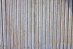 gammal vägg för industriell metall Arkivfoton