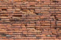 Gammal vägg för röd tegelsten Royaltyfri Fotografi