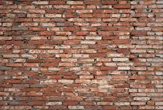 gammal vägg för tegelsten Arkivbilder
