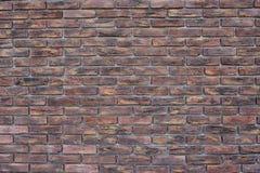 gammal vägg för tegelsten Arkivbild