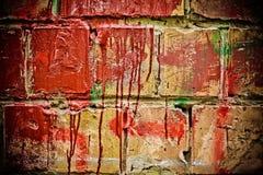 gammal vägg för tegelsten Royaltyfri Illustrationer