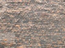 gammal vägg för tegelsten Arkivfoto