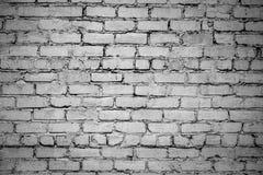 gammal vägg för tegelsten Svartvitt foto med vignettingeffekt royaltyfria foton