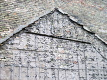 gammal vägg för tegelstenar Royaltyfri Foto