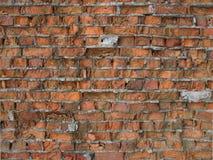 gammal vägg för tegelstenar Royaltyfria Bilder
