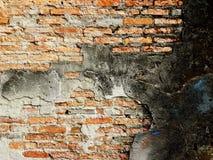 gammal vägg för tegelstenar Arkivfoton